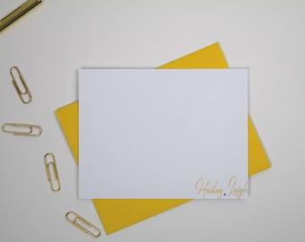 Personalized Stationery Set, Note Card Set,Personalized Stationary Cards,Blank Note Cards, Paperienco,Gift Stationary Set of 12