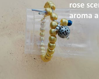 a bracelet   with the smell of roses Yellow