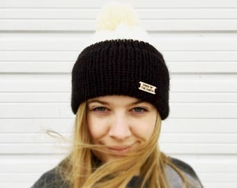 The Lydia Beanie // Knit Hat // Knit Stocking Cap // Adult // Women's // Handmade Beanie // Homemade // Winter