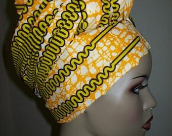 "Wholesale African head wrap fabric, Head Scarf Fabric, Long Headwrap 72""x22"" inch/ DIY Head Wrap fabric/ African head wraps/Rasta Head Wraps"