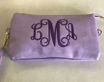 Monogram clutch purse