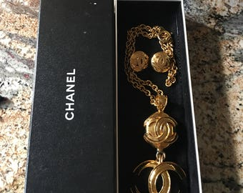 Vintage Chanel Necklace and Earrings *Exquisite and Bold""