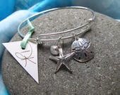 Sterling Silver Over the Wrist Bracelet Featuring Gifts From The Sea