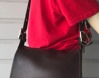 Vintage  Original Coach Legacy  Stewardess Turn Lock  Mahogany  Crossbody  Bag #9525