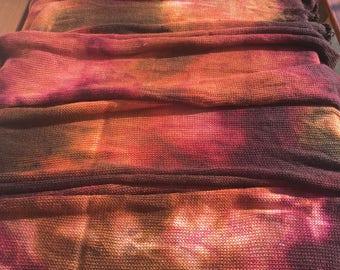 Autumn Sock Blank, indie dyed merino nylon yarn in fall colours