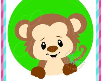 Monkey SVG Cutting File, Monkey svg, Monkey cut file