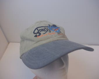 Stoney's Seafood hat cap leather strap