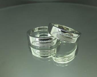 Fine Silver Wedding Rings