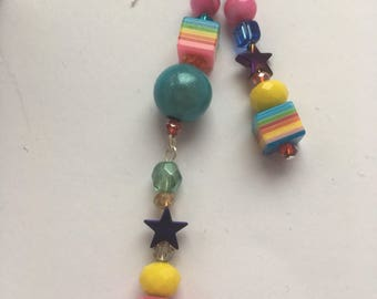 Jazzy festival mismatched earrings