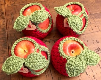 Made to Order Handmade Crocheted Apple Cozies