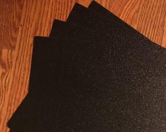 Black Glitter cardstock | 12x12 | glitter cardstock