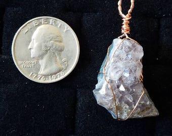 Copper Amethyst Pendant