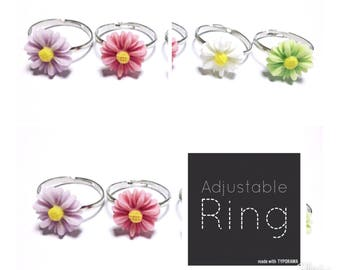 Adjustable Daisy Ring | Daisy (Pink, Purple, White, Green)
