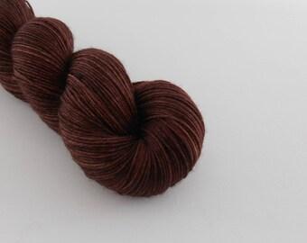 LOVE SOCK,  Chocolat, merino nylon sock yarn,100g