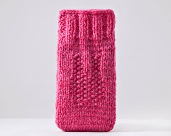 Pink iPhone X Case, Knit iPhone 6 plus case, Bunny iPhone sock, Pink Mom Gift, crochet samsung galaxy s7 case, Bunny Pouch, Christmas Gift