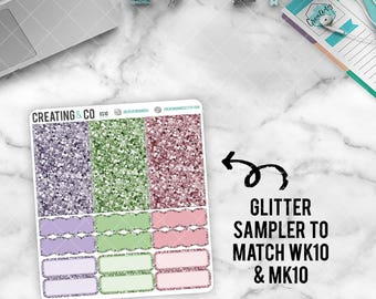 Faux Glitter Functional Sampler to match Home Sweet Home - GS10