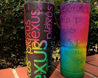 Plexus Slim Worldwide Watercolor Wrapped 24 oz. Tumbler