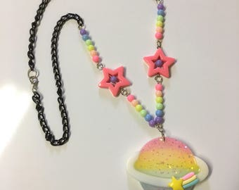 Fairy Kei Saturn Necklace by KawaiiPowerUp (exclusive) (style 2)