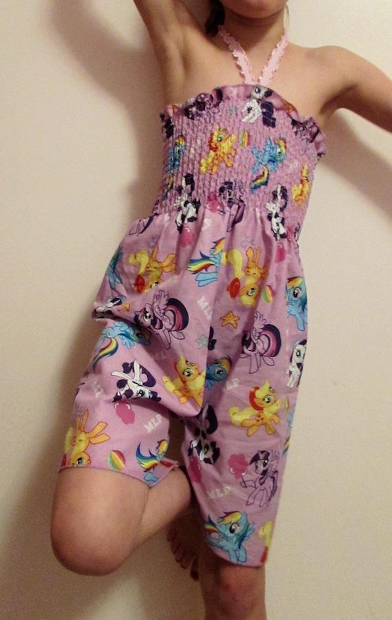 Girls romper/mock smock romper/My Little Pony romper/Frozen romper/Hello Kitty romper/Doc McStuffin romper/Princess romper/summer romper
