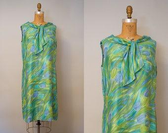 Lilly Pond Dress / 1960s Dress / 60s Summer Dress