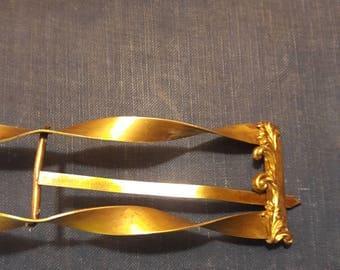 Vintage Brass belt buckle victorian/ Art Nouveau.
