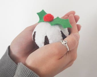 Unbreakable Bauble Christmas Pudding Figgy Pud Crochet Tree decoration for twiggy tree or Xmas tree MADE TO ORDER