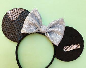 Black & Silver Disco Ears
