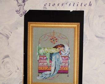 Mirabilia ~ SLEEPING PRINCESS ~ Counted Cross Stitch Pattern MD123 Nora Corbett