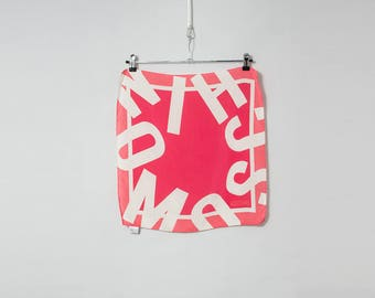 MOSCHINO 1990s typographic silk scarf
