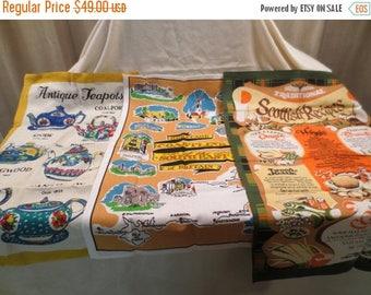 50% Off Estate Sale Wholesale Lot 11 Vintage Tea Towels & Aprons, Bulk Lot 11, Resale, Australia, England, Scotland, Cats, Teapots, Alaska,