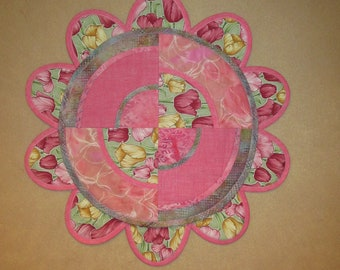 Pink Tulip Table Topper