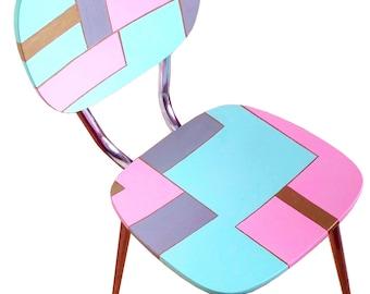 Chaise MONDRIAN SOFT, chaise vintage en formica peinte par SophieLDesign