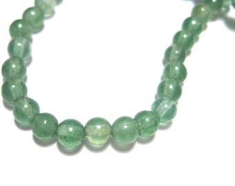 1 Strand Green Natural White Jade Dyed Stone Beads 4mm Round( No.G2)