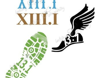 13.1 Half Marathon Running Decal /Sticker for Car, Laptop or any non painted surface