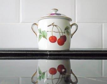 Royal Worcester Evesham Handled Preserve / Marmite Pot Shape 29 Size 6