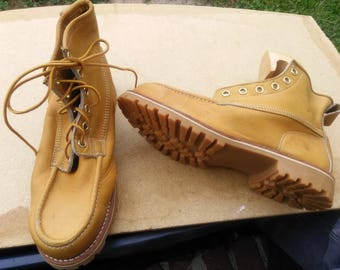Vintage deadstock work boots georgia giant northlake made in USA suede upper mens pick 1 pair new shoes 1970