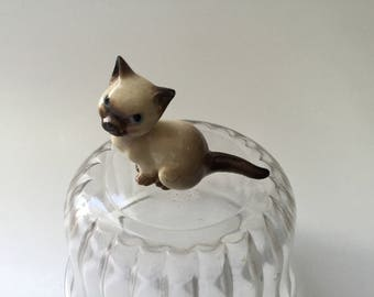 Vintage Hagen Renaker Siamese Cat/Siamese Mama Seated Cat/#483