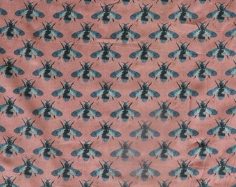 Fabric - Lady McElroy- Honey bee, dusky pink - 100% cotton lawn - woven fabric