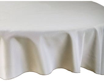 Silver Round Wedding Linentablecloth 120 Inch Round Banquet Polyester Cloth, Wrinkle Resistant Quality Tablecloth For Special Event Or Party