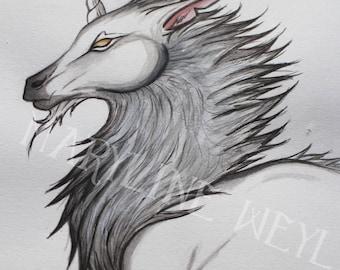 "Original drawing ""fleece Unicorn"""