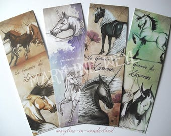 "lot 4 bookmark ""book of unicorns"" * Unicorn"