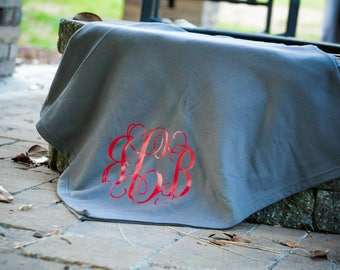 monogrammed blanket stadium blanket sweater blanket personalized blanket monogrammed throw blanket
