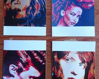 Set cards female music force, half Dutch