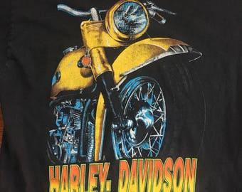Vintage Harley Davidson HD Panhead Hydra Glide Pocket Tee Tshirt Large