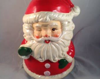 Vintage Berman and Anderson Santa Claus rotating music box Figurine