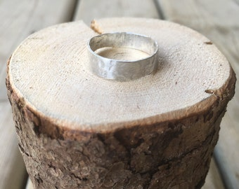 Hammered Ring in Sterling Silver Handmade Simple Band Made to order in any size