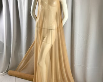 Khaki/dk.nude power mesh 4 way stretch nylon lycra spandex. Dance wear/Bridal/Wedding/Prom/Nightgowns/Dresses-Sold By Yard.