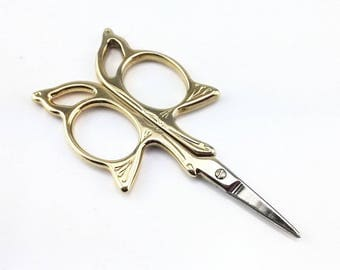 Gold Shaped Butterfly Needlework Embroidery Scissors
