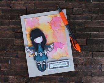 GORJUSS GIRL | Just Because Card - Enjoy Your Day