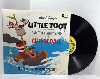 Walt Disney's Little Toot And Other Sailor Songs vinyl record 1962 Disneyland Records Chip N Dale VG+/EX